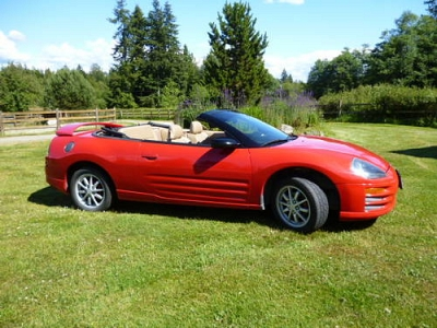 Photo 2002 Mitsubishi Eclipse Spyder Convertable Red