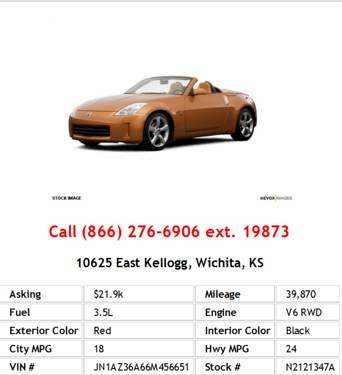 Photo 2006 Nissan 350Z Roadster Red Convertible V6