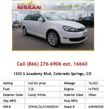 Photo 2012 Volkswagen Jetta TDI Candy White Wagon I4