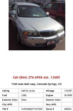 Photo 2001 Lincoln LS Base Silver Sedan V6