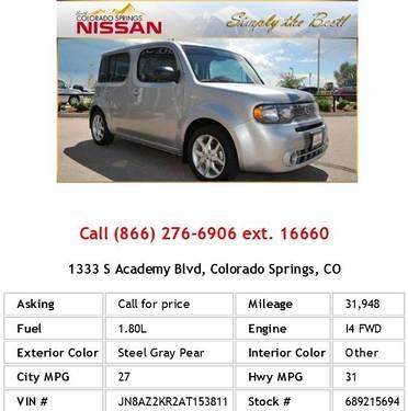 Photo 2010 Nissan cube 1.8 Steel Gray Pear Wagon I4