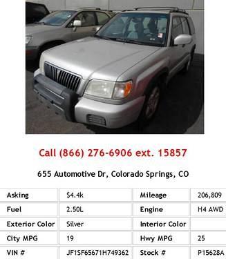 Photo 2001 Subaru Forester S Silver Wagon H4