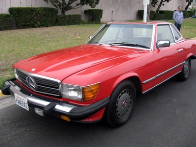 Photo 1984 Mercedes 380SL Convertible - Red on Tan, 50K Miles
