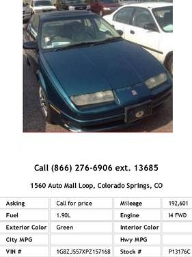 Photo 1993 Saturn S-Series SL2 Green Sedan I4
