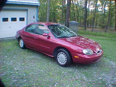 Photo 1996 Mercury Sable GS V6 27 MPG new tires 126K met red