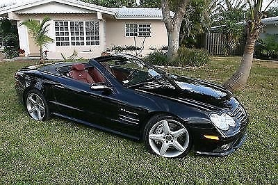 Photo 2007 MERCEDES SL55 AMG , BLACK WITH RED INTERIOR, LIKE NEW