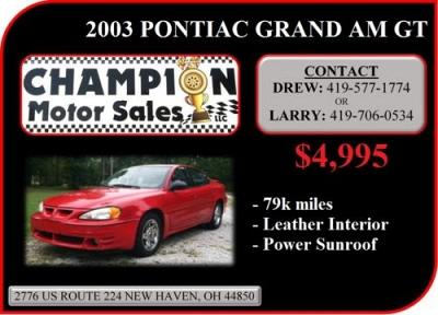 Photo 2003 Pontiac Grand Am GT - Red - 79k miles