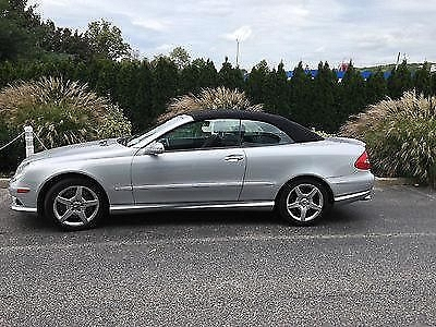 Photo MERCEDES CLK 550 AMG SILVER CONVERTIBLE