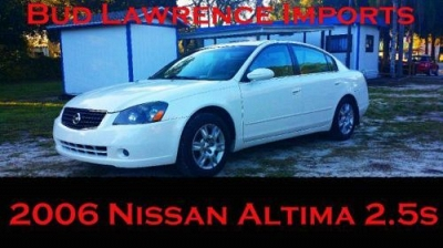 Photo 2006 NISSAN ALTIMA 2.5s pearl white FINANCING 4 ALL CALL US LOW  D