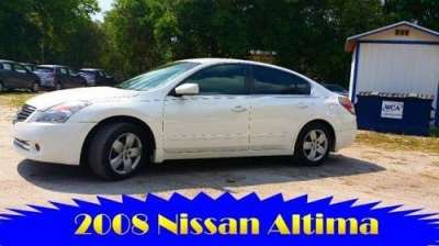 Photo 2008 Nissan Altima 2.5 S Pearl White CLEAN EZ FINANCING Call Us Today