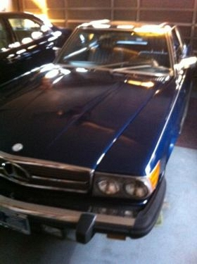 Photo 1985 mercedes 380sl-v8-dark blue-auto-144k mi.