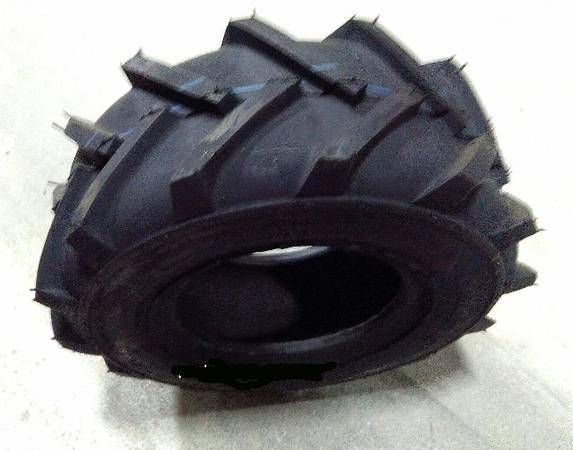 Photo 13x5.00-6 Lug Tires (TWO) CARLISLE Super Lug tiller tires - $45 (Pennsburg)