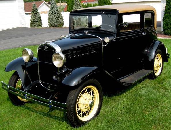 Photo 1931 Ford Model A Victoria Deluxe Frame-Off Resto BlackTan Beautiful - $24,999 (nazareth)