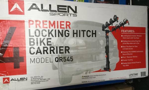 Photo Allen Sports Premier 4 bike Locking Carrier Hitch - $150 (Bethlehem)