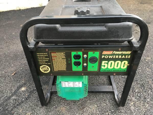 Photo Coleman Powermate 5000  6250 Watt Generator 110 220 - $350 (Alburtis)