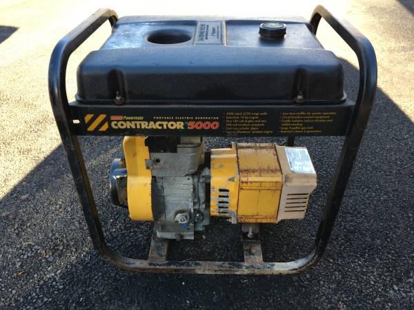 Photo Coleman Powermate Contractor 5000  6250 Watt Generator 110 220 - $150 (Alburtis)