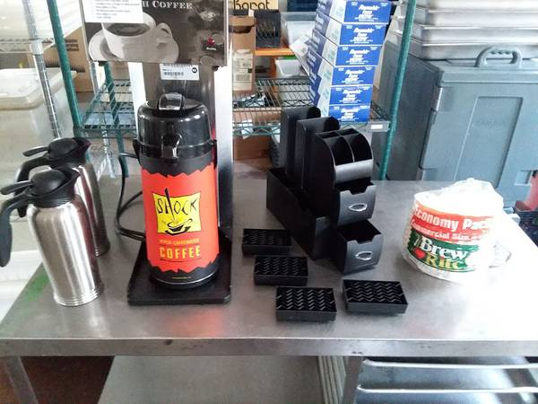 Photo Commercial Coffee Airpot Brewer Pour Over - $250 (Roseto)