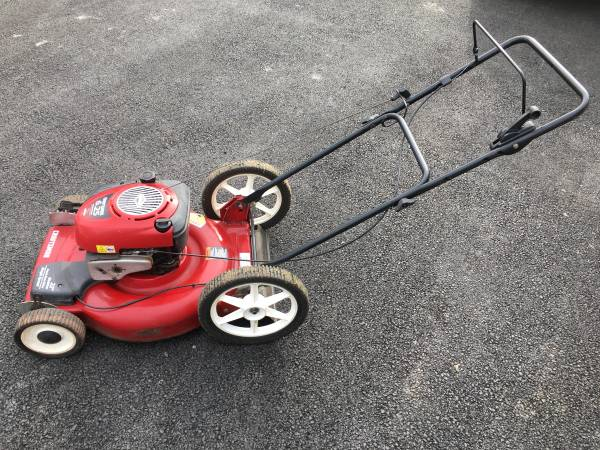 Photo Craftsman 6.25HP 22 Self Propelled High Wheel Mulcher Push Mower - $100 (Alburtis)