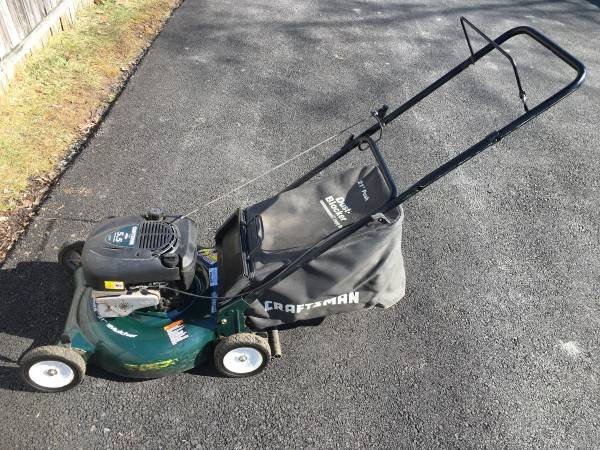 Photo Craftsman Mulcher Bagger 5.5HP 21 Push Mower - $90 (Alburtis)
