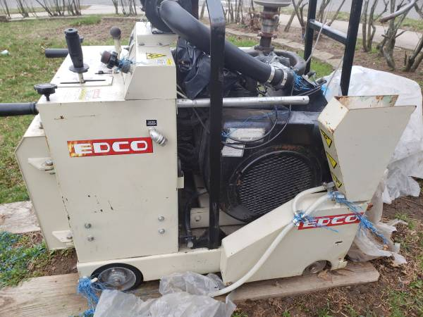 Photo Edco Walk Behind Saw (looking for equipment mechanic) (Allentown PA)