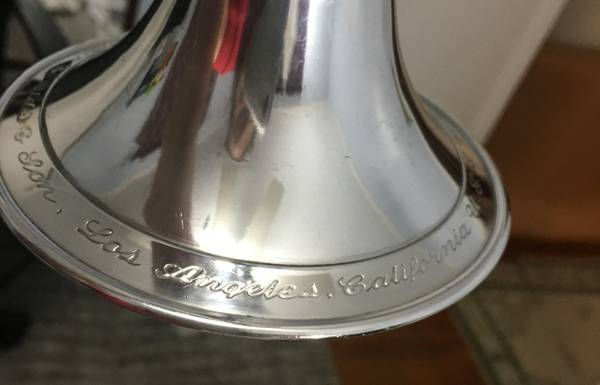 Photo F E OLDS ORIGINAL BURNISHED SILVER SUPER CORNET 1947 A REAL PLAYER - $640 (Allentown)