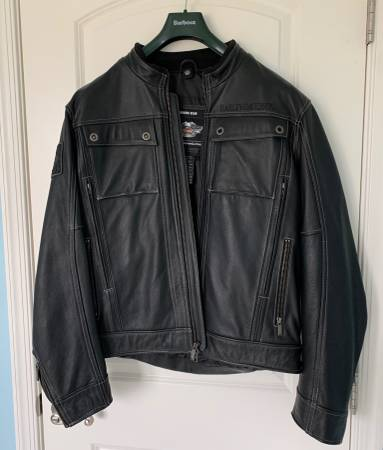 Photo Harley-Davidson 3-in-1 Leather Jacket with Hoodie, sz. L, Like New - $295 (Orefield)