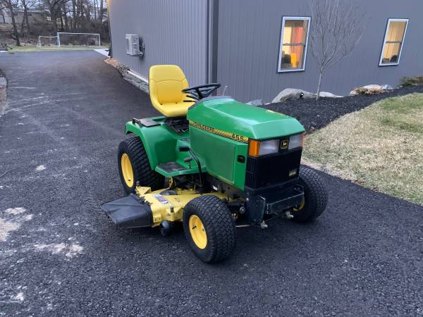 Photo John Deere 455 garden tractor (Emmaus)