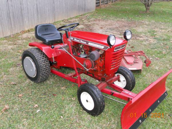 Photo WHEEL HORSE 1076 with 42quot PLOW  MOWER, RUNS GREAT - $699 (NOTTINGHAM  OXFORD, PA)