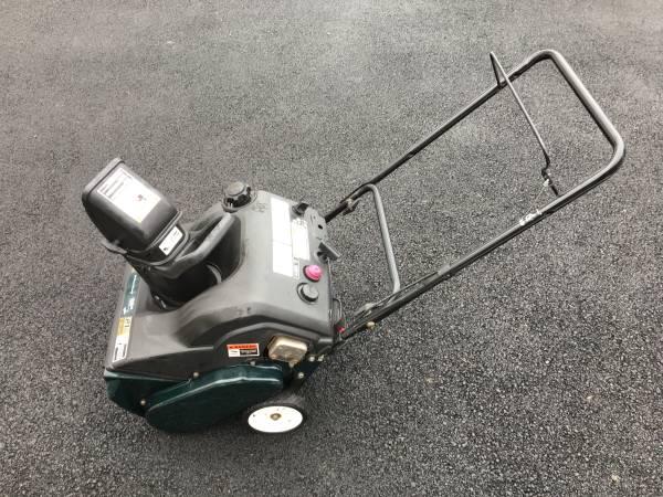 Photo Yard Machines Snowblower 3.5HP 21 - $120 (Alburtis)