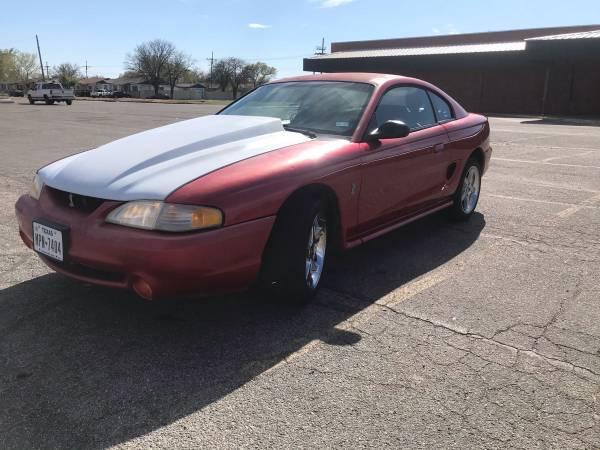 Photo 1998 Mustang Cobra - $4500 (Amarillo)