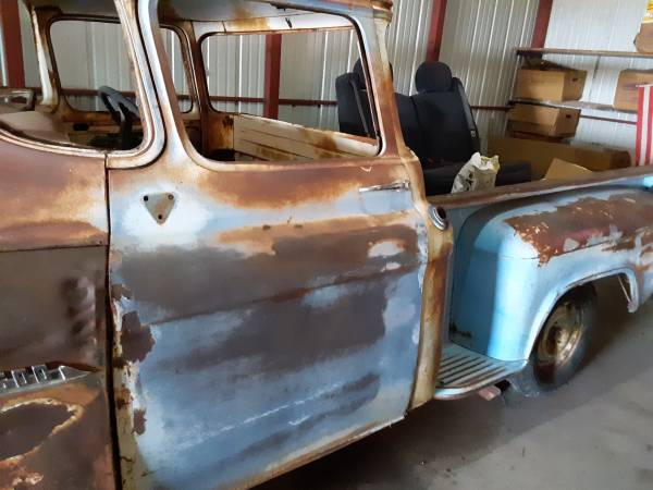 Photo 59 chevy 12 ton pickup-55 front clip-panoramic glass cab - $4,800 (amarillo)