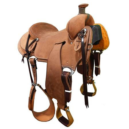 Photo New 16quot Cactus Saddlery Ranch Saddle Code SCARAN160ROSR - $3,599 (Amarillo)