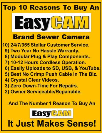 Photo New Sewer Camera quotOwner Serviceablequot - $5995 (Amarillo)