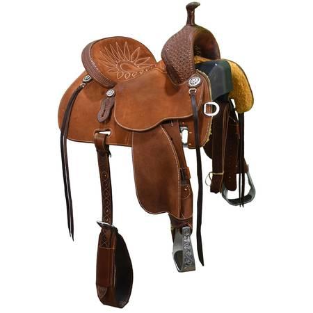 Photo Used 13quot Stingray Barrel Saddle by Martin Saddlery Code U13STINGRAY14 - $2,999 (Amarillo)