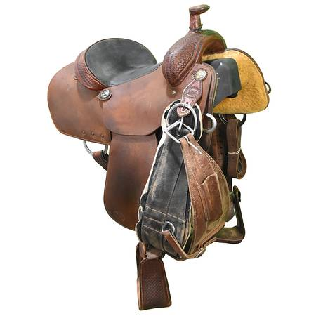 Photo Used 14.5quot Coats Saddlery Team Roping Saddle Code U145COATSTRRO - $3,299 (Amarillo)