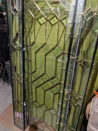 Photo 3 Piece Leaded Glass Sidelights and Door Panel Set - $100 (Uniontown)