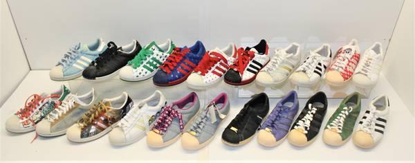 Photo Adidas Size 10 Men39s Tennis Shoes Superstar 35th Anniversary Lot - $450 (Westlake)