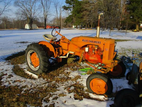 Photo Allis Chalmers CA Tractor with mower (Williamsfield, Ohio)