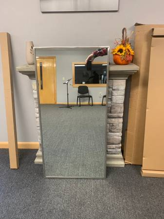 Photo Commercial Mirror 24X48 Stainless Steel Frame - $65 (Andover)