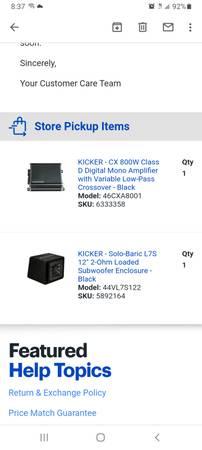 Photo Kicker Amp and 12 kicker l7 - $500 (Geneva)