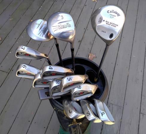 Photo Men39s Right-handed Golf Clubs - Calloway, King Cobra - $140 (Cuyahoga Falls)