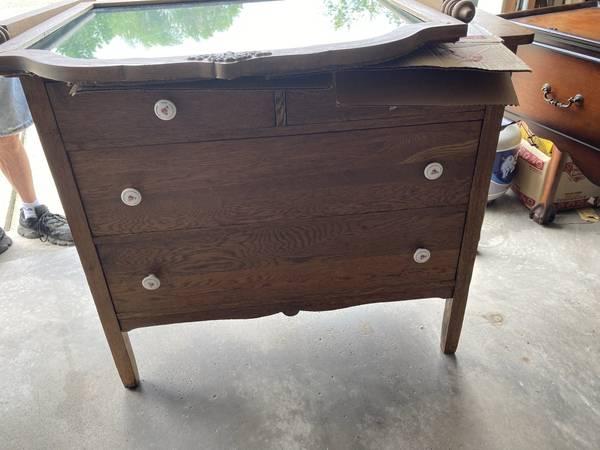 Photo Oak Dresser wMirror - $65 (Canton)