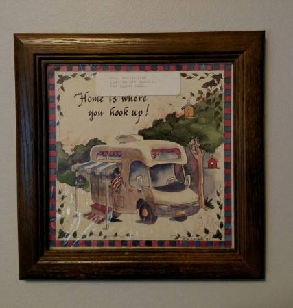 Photo Square Picture for Cer, RV, Tiny House  Home is where you hook up - $8 (North Canton)
