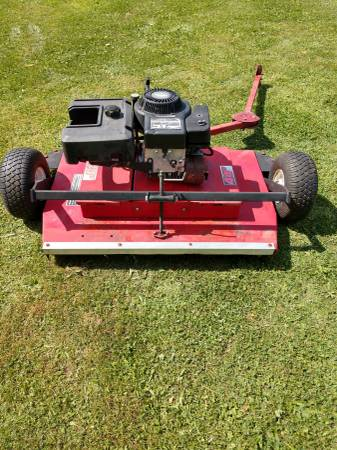Photo Swisher style Pull behind finish mower - $495 (roaming shores)