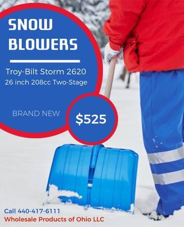 Photo Troy Bilt 26 Snow Blowers - $525 (N Kingsville OH)