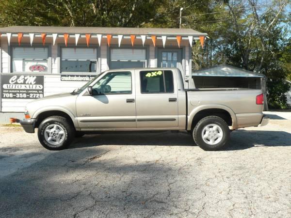 Photo 2002 CHEVROLET S10 LS CREW CAB - $4,995 (Lavonia,GA)