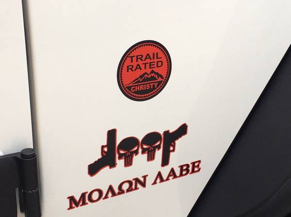 Photo 2)_Very Cool Custom Jeep TRAIL RATED Decals for CHEAP_Nice_See PICS - $20 (Buford)