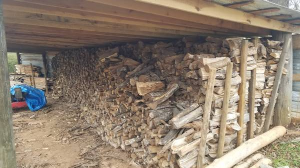 Photo 2 year old dry firewood in shed - $60 (Arnoldsville)