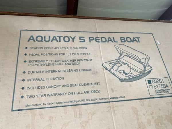 Photo AquaToy 5 Pedal Boat - New it the Box - $450 (Athens)