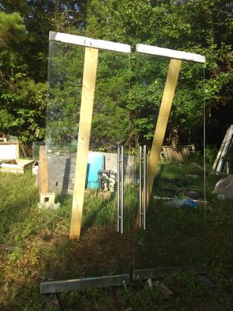 Photo Commercial Glass Doors - $1,200 (Union point)